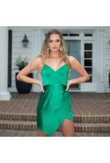 Dresses 22 Satin Dream Green Dress