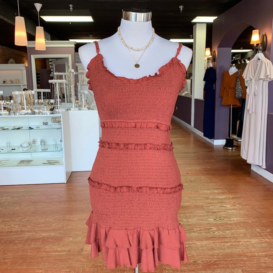 Dresses 22 How About Now Terra Cotta Dress