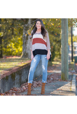 Tops 66 Fall Color Combo Sweater