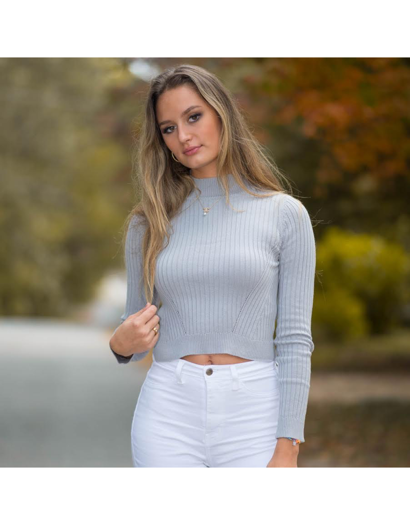 Tops 66 Mock Neck Fitted Sweater