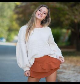 Tops 66 Chenille Balloon Sleeve Sweater