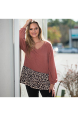 Tops 66 Leopard Block Top