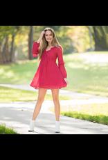 Dresses 22 Ruby Red Ruffle Dress