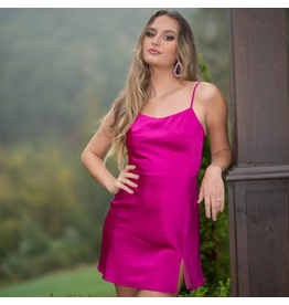 Dresses 22 Magenta Moment Satin Dress