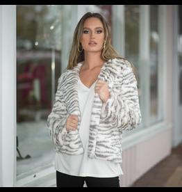 Outerwear Winter Escape Soft Ivory/Grey Coat