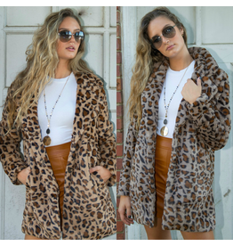 Outerwear Fuzzy and Fun Leopard Coat