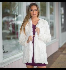 Outerwear Fuzzy Fur Ivory Coat