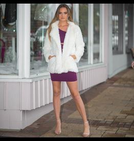 Outerwear Teddy Bear Fuzzy Winter White Coat