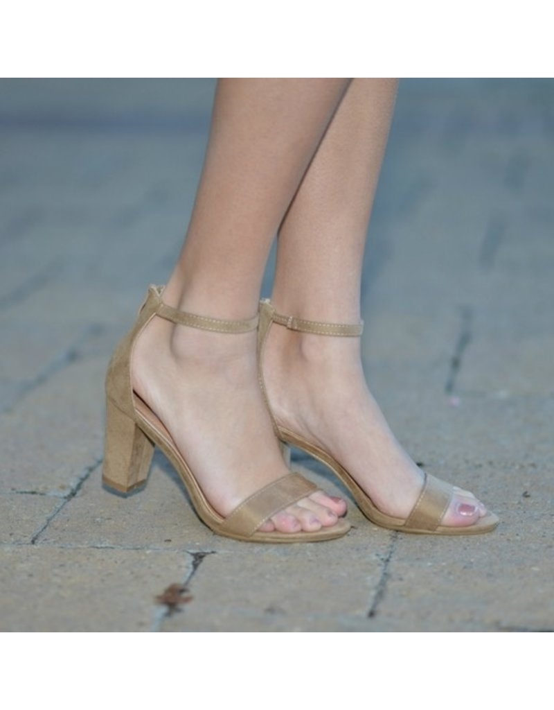 Shoes 54 Party All Night Taupe Heels