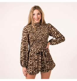 Rompers 48 Long Sleeve Leopard Romper