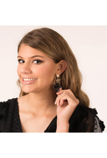 Jewelry 34 Black and Gold Glitter Star Earrings