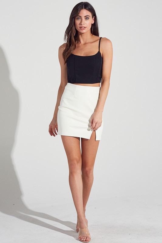 Skirts 62 White Leather Skirt