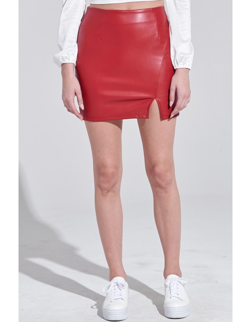 Skirts 62 Red Leather Skirt