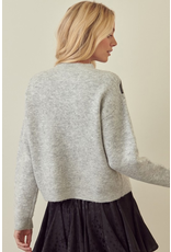Tops 66 Lightning Bolts Grey/Black Sweater