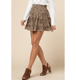 Skirts 62 Leopard Ruffle Skirt