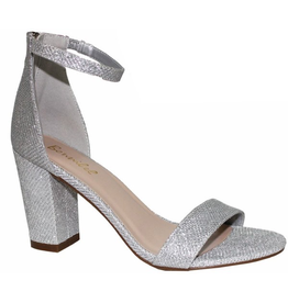 Shoes 54 Sparkle Party Silver Block Heels