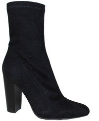 Shoes 54 New Heights Black Suede Midi Boot