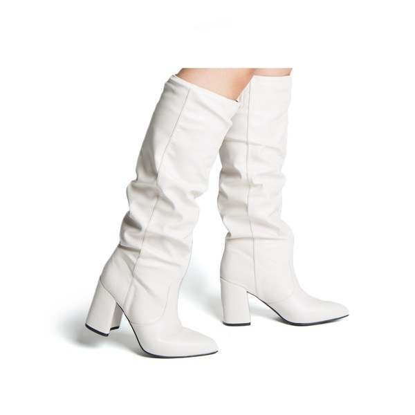 Shoes 54 Tall White Boot s