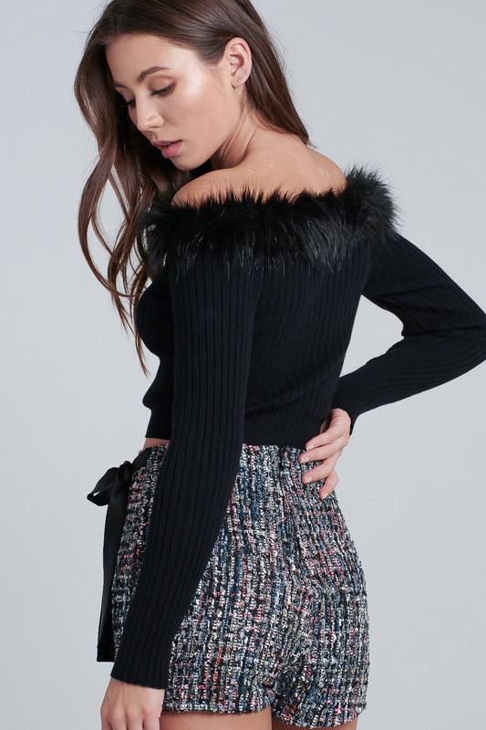 Skirts 62 Fun and Festive Colorful Tweed Skort