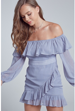 Dresses 22 Oh My Darling Blue Ruffle Dress