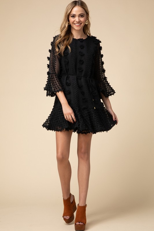 Dresses 22 Pretty Pom Pom Black Dress