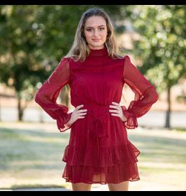 Dresses 22 Cranberry Ruffle Holiday Dress