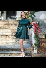 Dresses 22 Velvet Party Spruce Green Dress