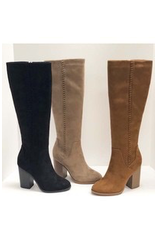 Shoes 54 Taupe Tall Braided Detail Boot