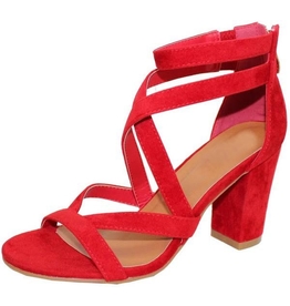 Default Strappy Red Party Heel