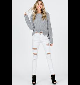 Tops 66 Chenille Dream Grey Sweater