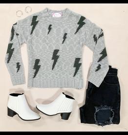 Tops 66 Lightning Bolt Grey Sweater