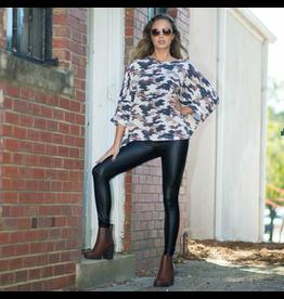 Pants 46 High Waisted Black Leather Leggings
