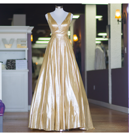 Formalwear Golden Moment Gold Formal Dress