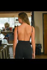 Jumpsuit Elegant Evening Black Open Back Jumpsuit