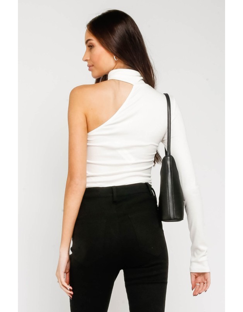 Tops 66 Party Perfect One Shoulder Ivory Top