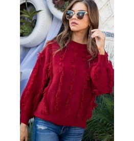 Tops 66 Fringe For The Season Sweater