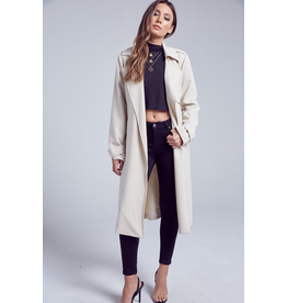 Outerwear Belted Beige Trench Coat