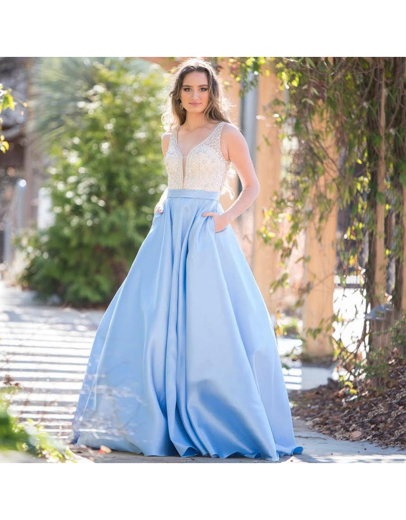 Formalwear Jovani Own The Night Light Blue Formal Dress