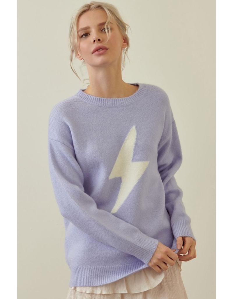 Tops 66 Lavender Lightning Bolt Sweater