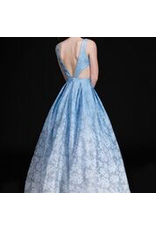 Dresses 22 Dreamy Ice Blue Ombre Formal Dress