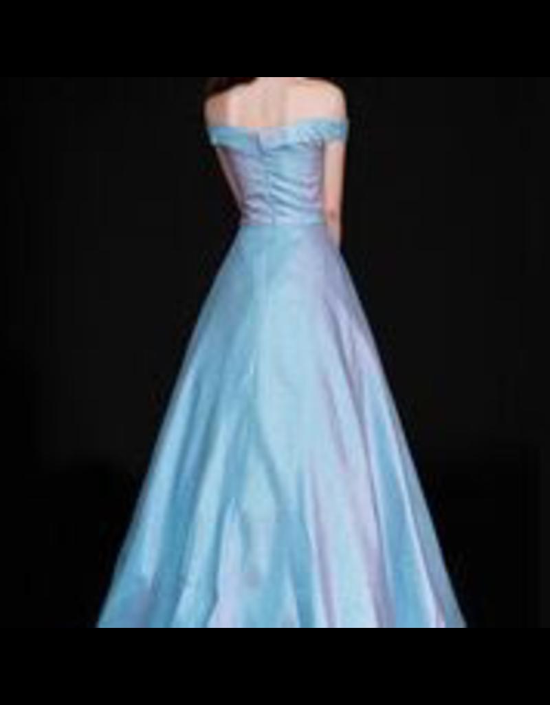 Dresses 22 Reflections Blue Iridescent Formal Dress