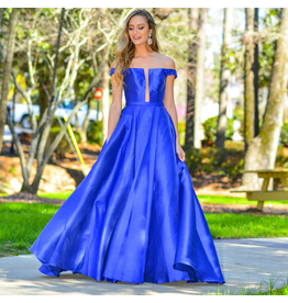 Formalwear Jovani Take My Breath Royal Blue Formal Dress
