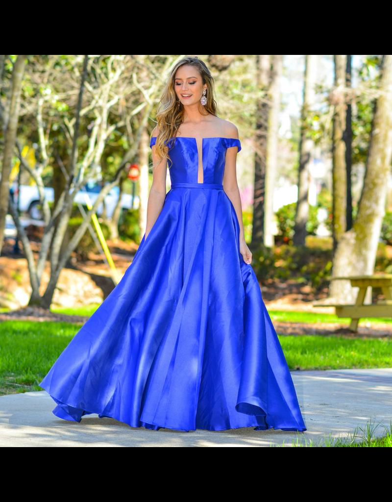 Formalwear Jovani Take My Breath Royal Blue Formal Dress