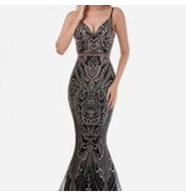 Dresses 22 Embellished Dream Black/Rose Gold Formal Dress