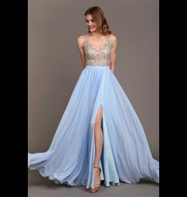 Dresses 22 Forever Young Sky Blue Formal Dress
