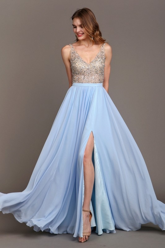 Dresses 22 Forever Young Sky Blue Formal Dress