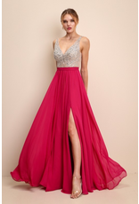 Dresses 22 Foever Young Hot Pink Formal Dress