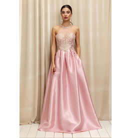 Dresses 22 Dreamy Blush/Gold Formal Dress