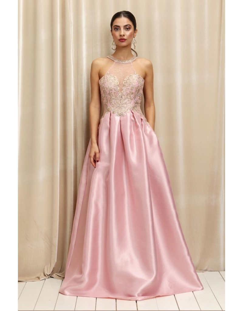 Dresses 22 Dreamy Blush/Gold Formal Dress