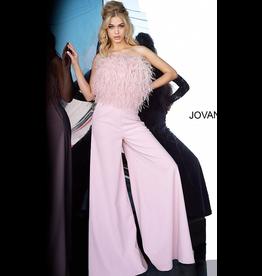 Jumpsuit Jovani Ruffle My Feathers Blush Jumpsuit